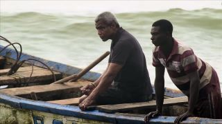 Hugh Quarshie in a trip of discovery in Ghana for '1000 Years A Slave'.