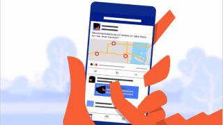 Social media app on smartphone