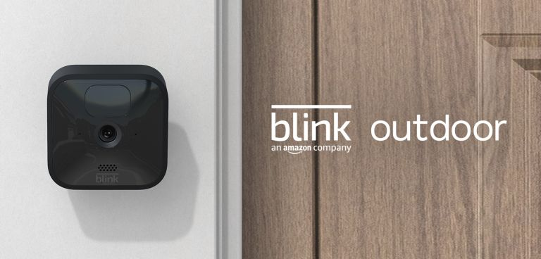 Amazon's Blink Outdoor security camera on wall