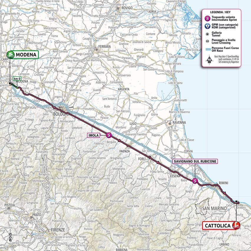 Giro d'Italia 2021 stage 5 map