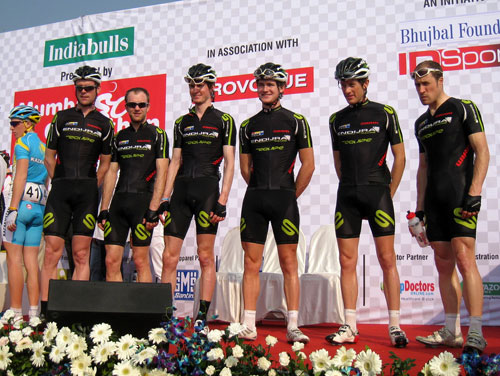 Endura Racing on stage, Tour de Mumbai 2011