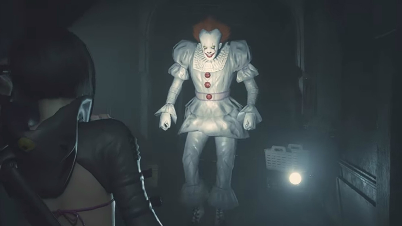 Resident Evil S Mr X Just Got Even Worse With This Pennywise Mod Gamesradar