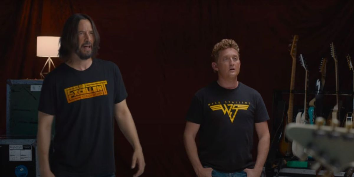 Keanu Reeves and Alex Winter in Weezer music video