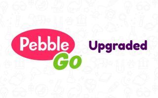 """""""PebbleGo Upgraded"""" with logo"""