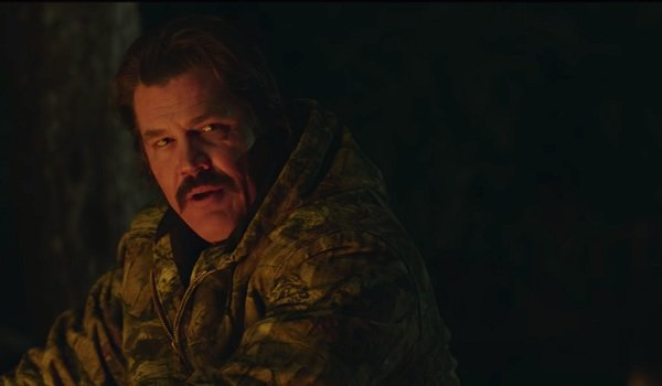 The Legacy of a Whitetail Deer Hunter Josh Brolin angry at a campfire