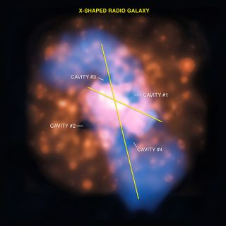 Black Hole Knocked Off Axis By Galaxy Collision