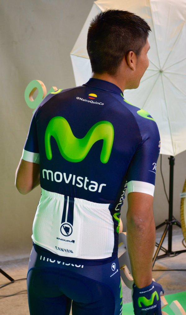 3cc2d07e1 Nairo Quintana models Movistar s new 2016 kit - Cycling Weekly