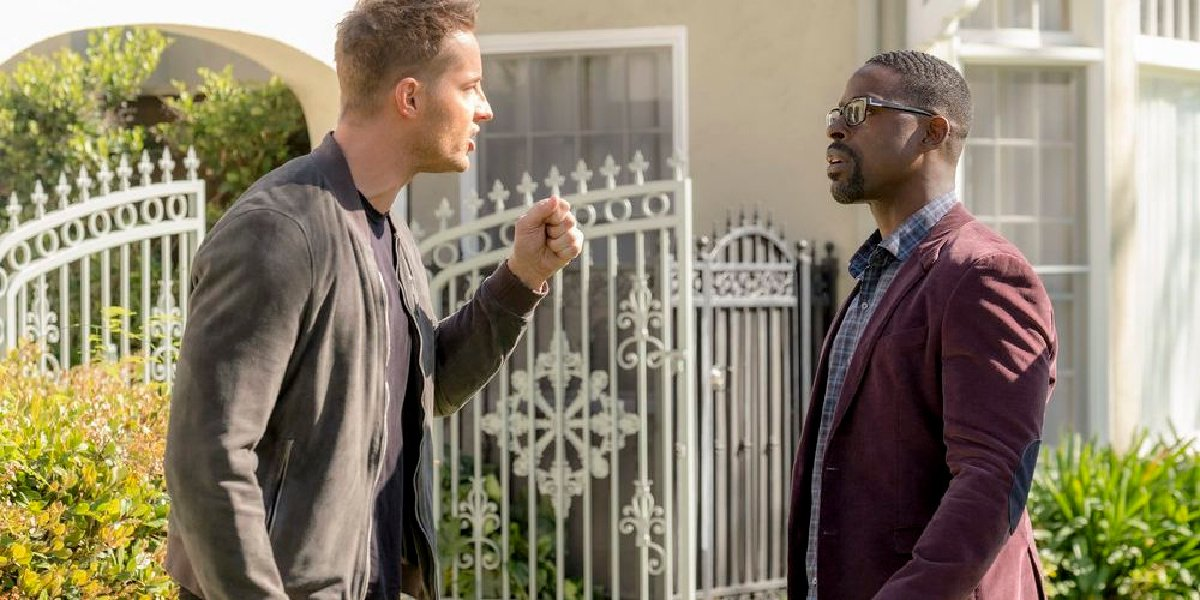 Kevin and Randall in the show, This Is Us.