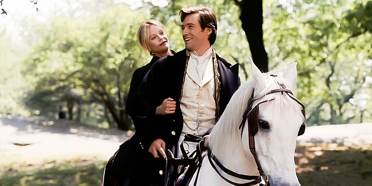 Meg Ryan and Hugh Jackman in Kate and Leopold
