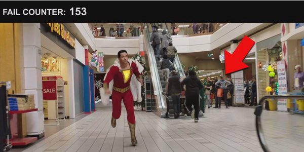 Shazam mall crew members given shopping bags and a mop David F Sandberg YouTube video