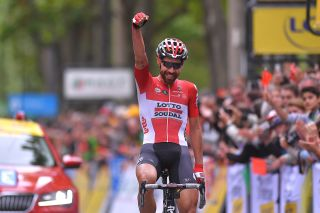Thomas De Gendt wins stage 1 of the Critérium du Dauphiné.