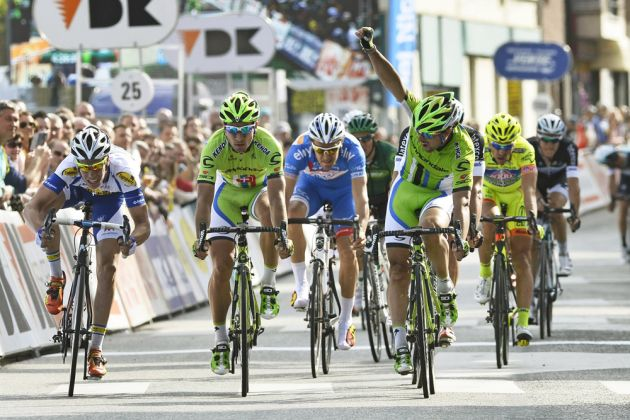 Peter Sagan wins on stage one of the 2014 3 Days of DePane