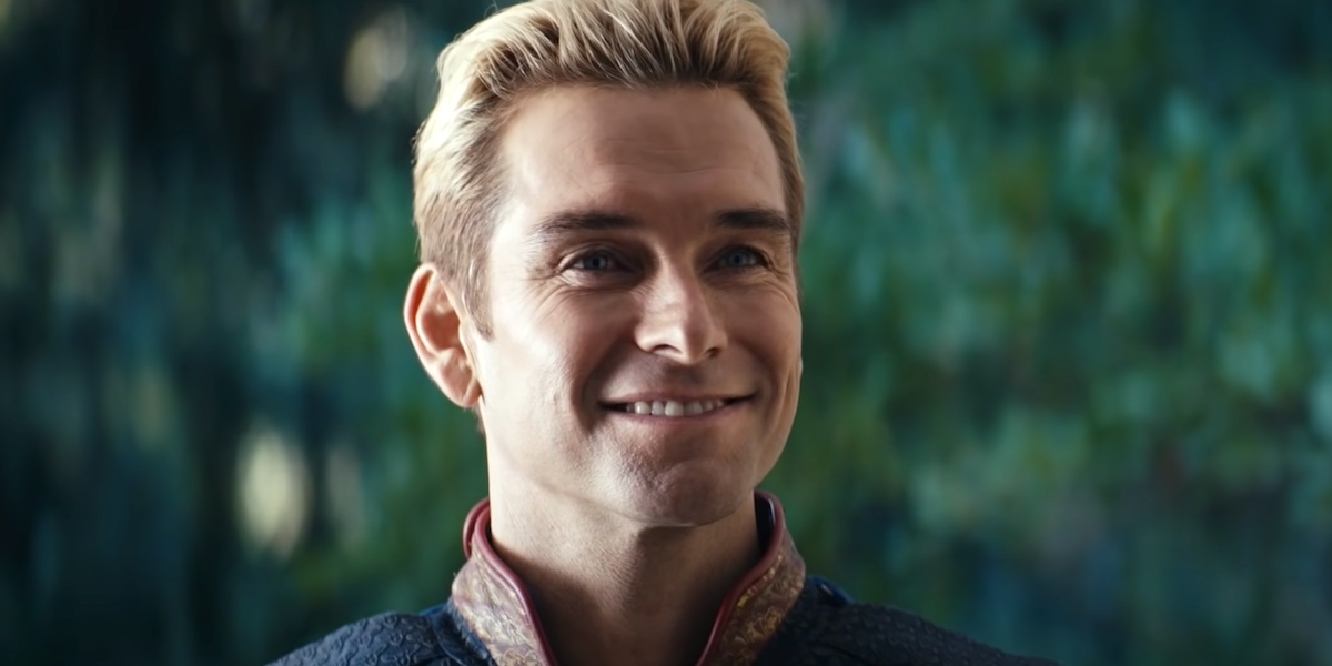 the boys homelander smiling season 2