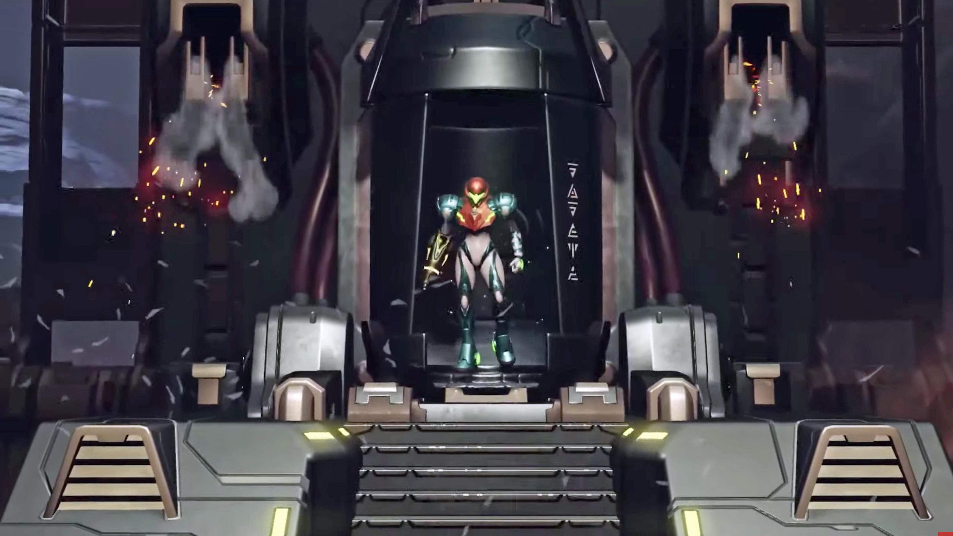 Samus stands ready in Metroid Dread