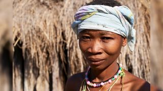 A Khoisan-speaking woman from Chomipapa, Angola