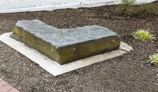An American slave auction block in Warrenton, Virginia.