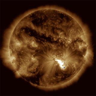 Solar eruption 10/24/2014
