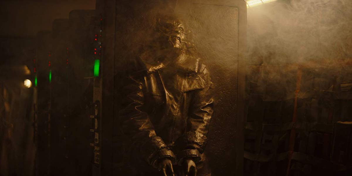 carbonite scene in The Mandalorian