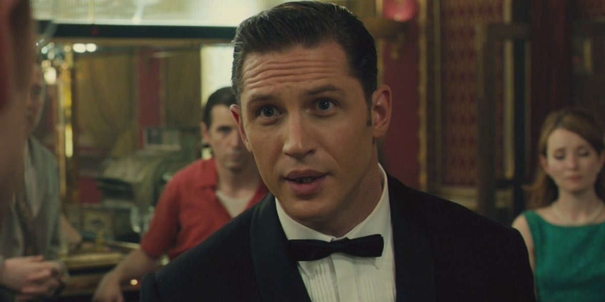 Legend Tom Hardy wearing a tux and giving an attitude