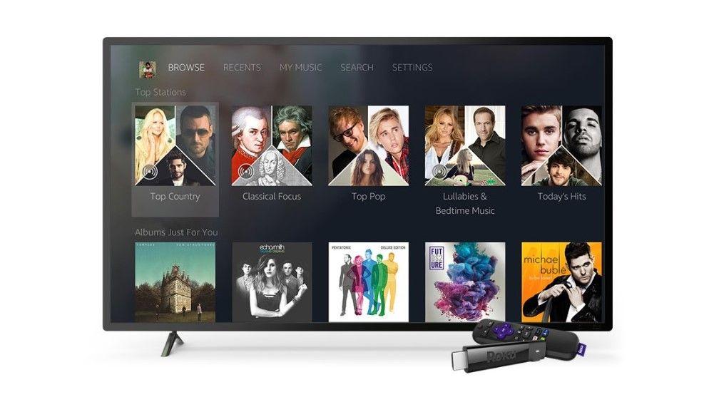 Amazon Music comes to Roku TVs and Roku streaming boxes