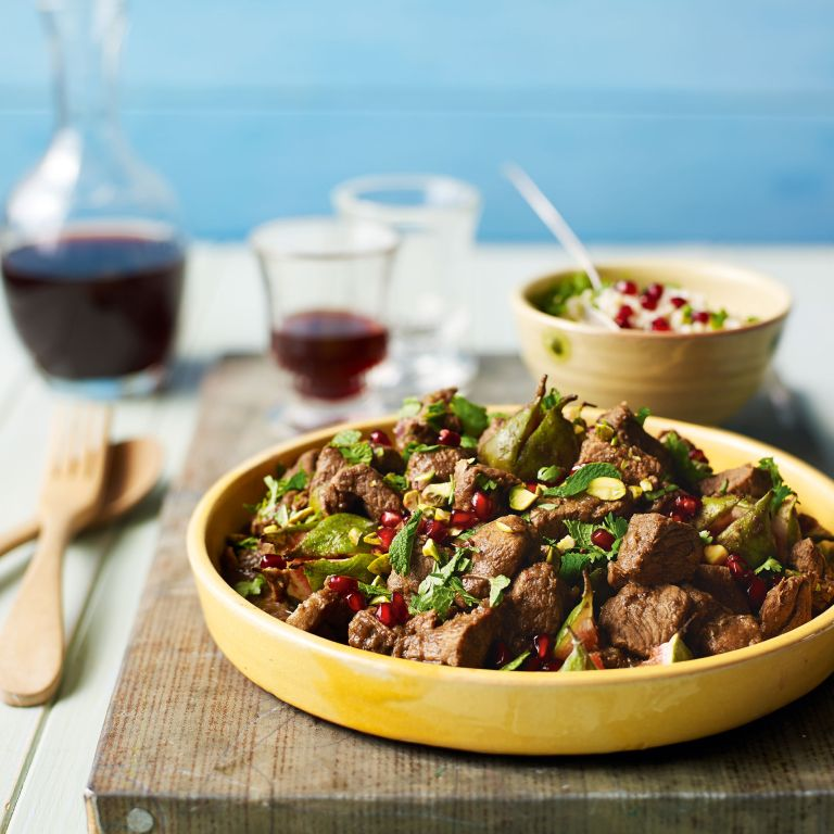 Middle Eastern Lamb With Fresh Figs