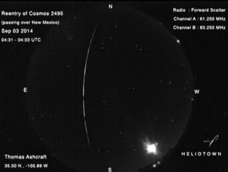 Fireball from Suspected Russian Satellite