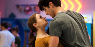 Marco catches Elle and they stare into each other's eyes in 'The Kissing Booth 2'