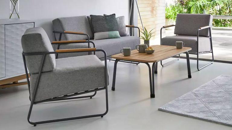 Argos garden furniture: mid-century style sofa set