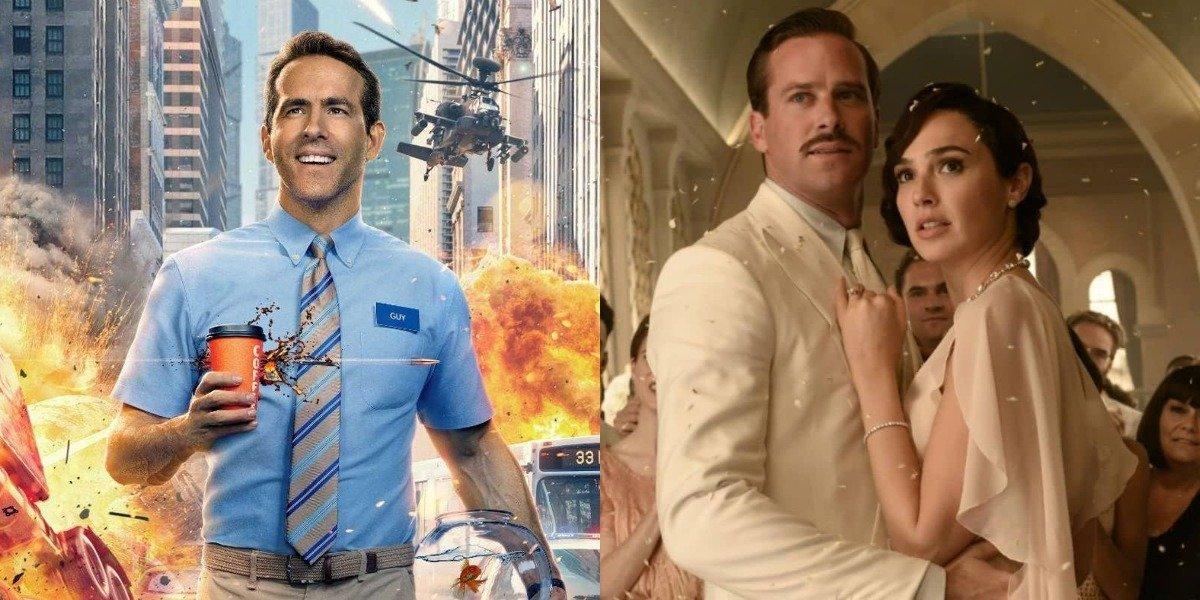 Ryan Reynolds in Free Guy, Armie Hammer, Gal Gadot in Death on the Nile