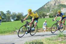 Chris Froome (Sky) in yellow
