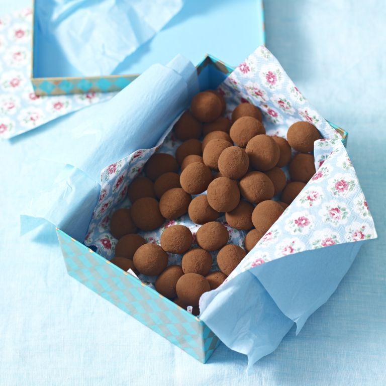 Chocolate Truffles with Espresso and Sea Salt