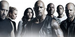 The Fate of the Furious cast poster The Rock in center
