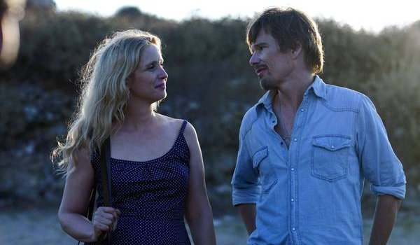 Before Midnight Julie Delpy Ethan Hawke Celeste and Jesse walking in the sunset