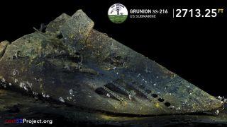 USS Grunion bow