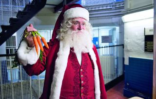 What's this, Santa banged up in jail? Well, yes, it's true!
