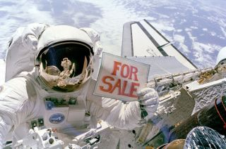 Dale Gardner With 'For Sale' Sign
