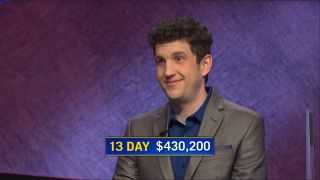 Matt Amodio, a graduate studio from New Haven, Conn., has won 13 'Jeopardy!' matches in a row.