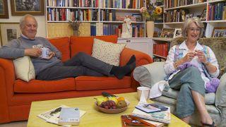 Celebrity Gogglebox stars Giles and Maureen.