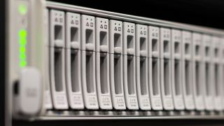 row of server drives