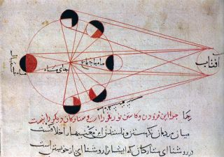 Persian Astronomer Al-Biruni's Phases of the Moon