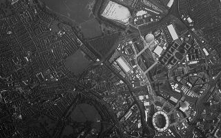 Aerial Shot of the London Olympic Park