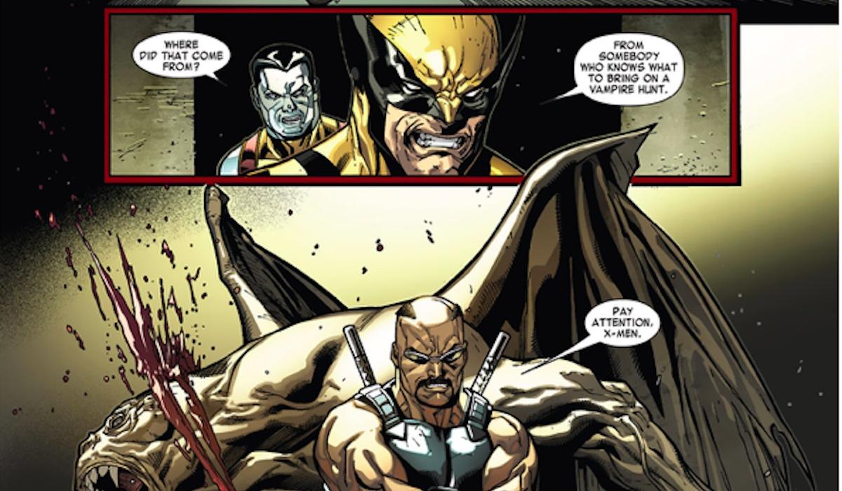 Blade in Curse of the Mutants comic