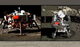 China's Chang'e 3 Lander and Yutu Rover