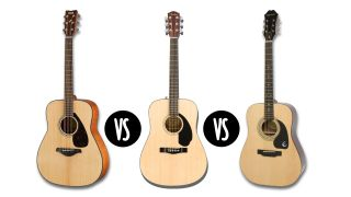 Epiphone DR-100, Fender CD-60 and Yamaha FG800: beginner acoustic guitars go head to head
