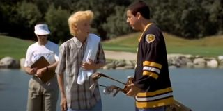 Happy Gilmore and his caddy