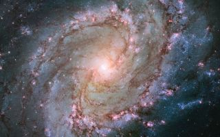 Barred Spiral Galaxy Messier 83 Hubble View