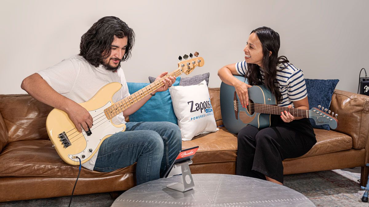 Guitar playing could soon become part of your regular working day, thanks to Fender