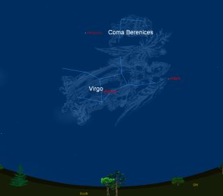 Coma Berenices Sky Map
