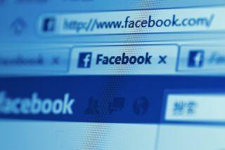 Facebook logo in a web browser.