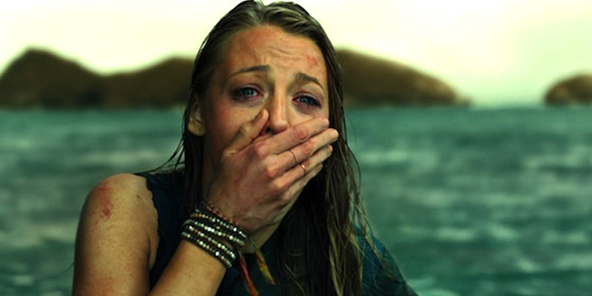Blake Lively covers mouth in shock The Shallows movie
